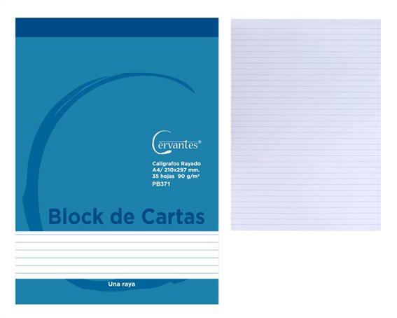 CERVANTES Μπλοκ σημειώσεων Α4 PB371 35 φύλλα 90g/m² μπλε