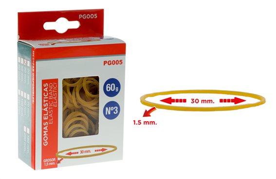 MP λαστιχάκια συσκευασίας PG005 σε κουτί No3 1.5x30mm 60g