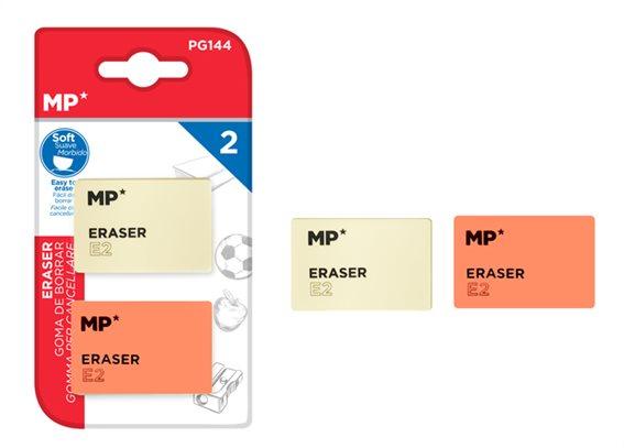 MP γόμα E2 PG144 47 x 31 x 11mm σετ 2τμχ λευκή και κόκκινη