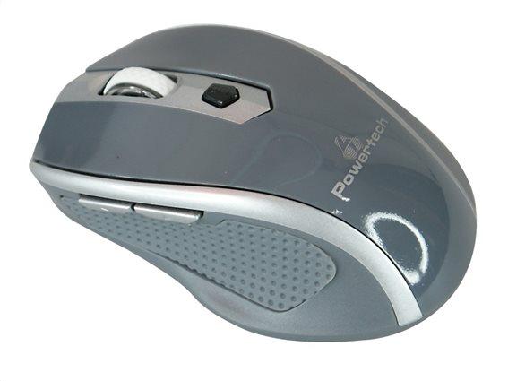 POWERTECH ασύρματο ποντίκι Οπτικό 1600 DPI γκρι