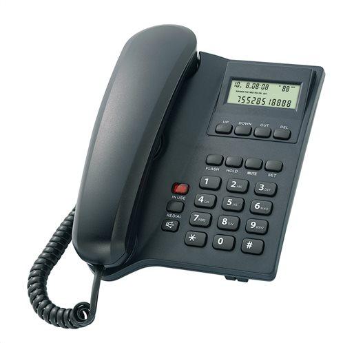 POWERTECH Σταθερό ενσύρματο τηλέφωνο ELLY LCD Black