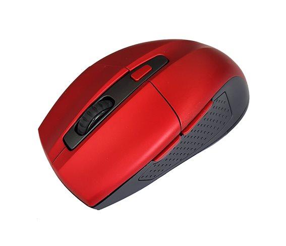 POWERTECH Ασύρματο ποντίκι PT-600 Οπτικό 1600DPI 6 πλήκτρα κόκκινο