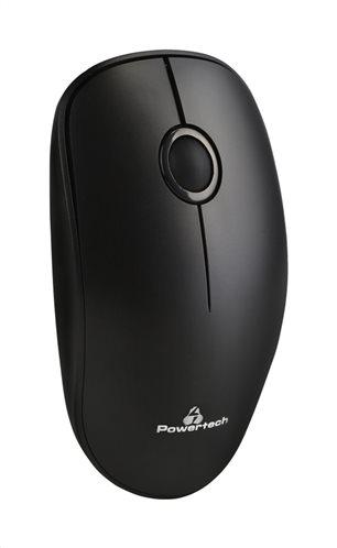 POWERTECH Ασύρματο ποντίκι Οπτικό 1200DPI μαύρο