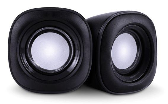POWERTECH ηχεία Essential sound PT-844 2x 3W 3.5mm μαύρα