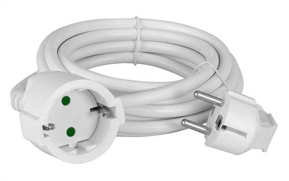 POWERTECH μπαλαντέζα ρεύματος PT-889 1x schuko 16A 5m λευκή