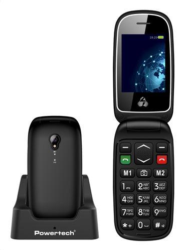 POWERTECH Κινητό Τηλέφωνο Sentry Global PTM-19 SOS Call φακός μαύρο