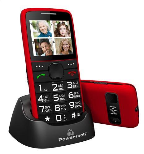 POWERTECH Κινητό Τηλέφωνο Sentry Eco PTM-25 SOS Call με φακό κόκκινο