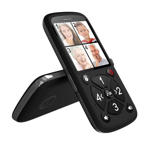 POWERTECH Κινητό Τηλέφωνο Aid+ 4 Αριθμοί Κλήσης με Φακό FM Radio Black