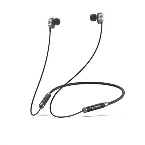 Lenovo Bluetooth Earphone(Double Coil)HE08 – Μαύρο