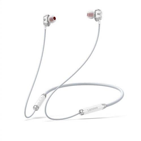 Lenovo Bluetooth Earphone (Double Coil) HE08 – Άσπρο