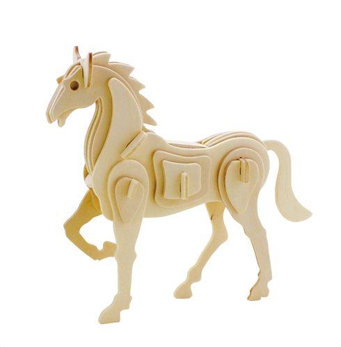 ROWOOD Ξύλινο 3D πάζλ άλογο JP207 30τμχ
