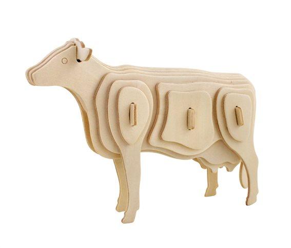 ROWOOD Ξύλινο 3D πάζλ αγελάδα JP251 23τμχ