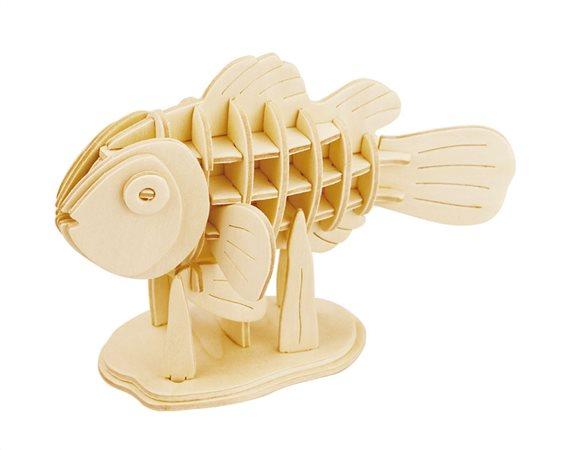 ROWOOD Ξύλινο 3D πάζλ Clownfish JP278 36τμχ