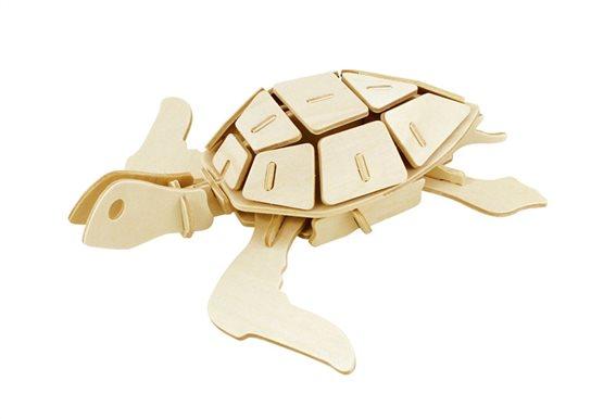 ROWOOD Ξύλινο 3D πάζλ θαλάσσια χελώνα JP295 69τμχ