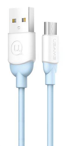 USAMS Καλώδιο USB σε Micro USB US-SJ247-BL Ice-Cream 1m μπλε