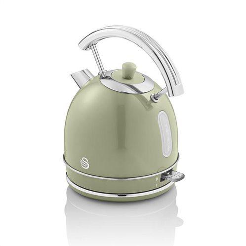 Swan Retro 1.8 Litre Dome Kettle - Πράσινο