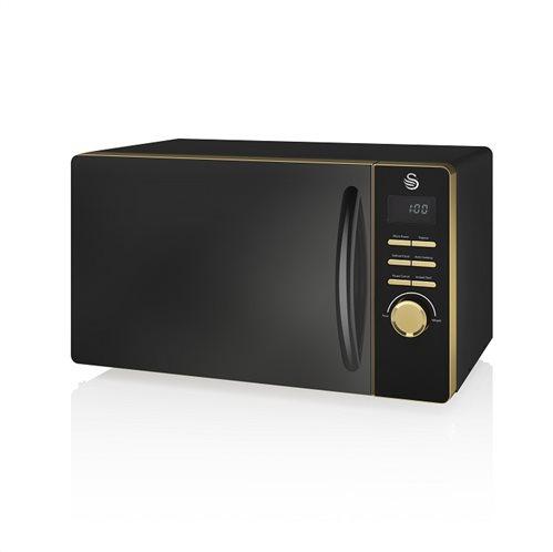 Swan 800W Digital Microwave – Μαύρο