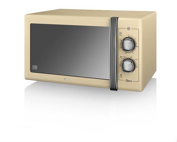 Swan 900W Manual Microwave – Μπεζ