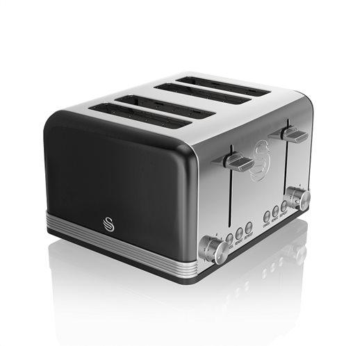 Swan Retro 4 Slice Toaster – Μαύρο