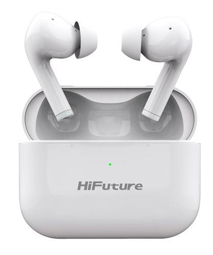 HIFUTURE earphones TrueAir ANC true wireless με θήκη φόρτισης λευκά
