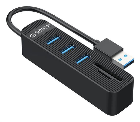 ORICO USB Hub TWU3-3AST 1x SD 1x TF 3x USB ports μαύρο