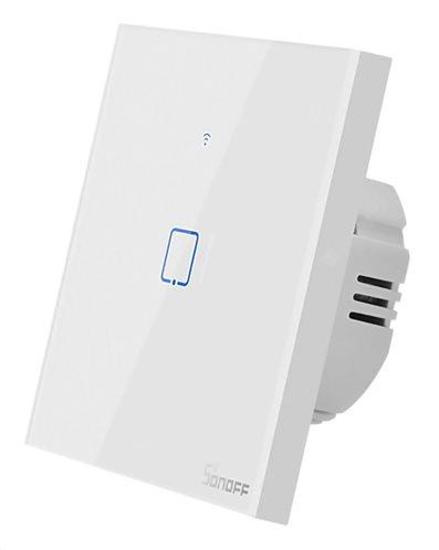 SONOFF smart διακόπτης ΤΧ-T2EU1C αφής Wi-Fi μονός λευκός