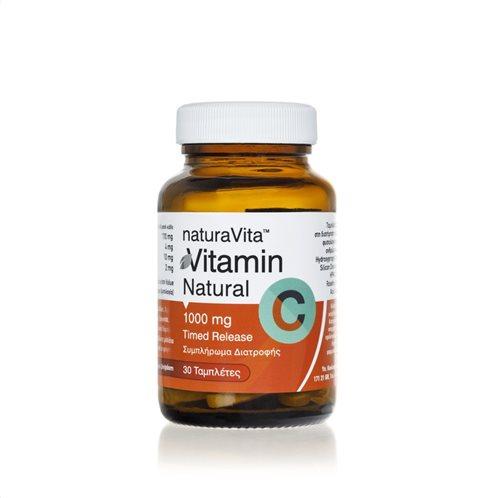 Νatura Vita Συμπλήρωμα Διατροφής Βιταμίνη C 1000mg Timed Realease 30 Ταμπλέτες