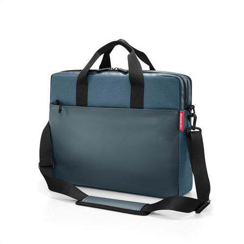 "Reisenthel Τσάντα ώμου με θέση laptop 15"" workbag 42,5x33x12cm Canvas Blue"