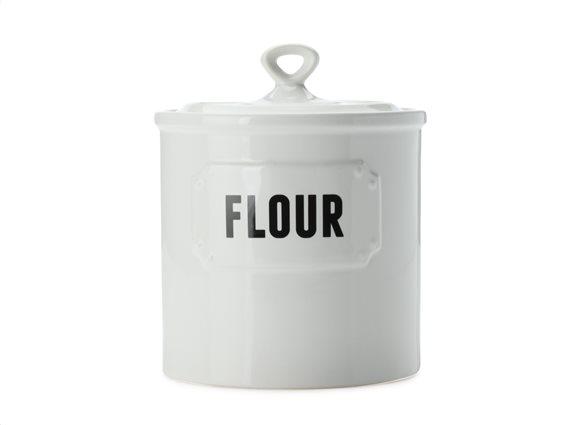 "Casa Domani Δοχείο Κεραμικό ""Flour"" Λευκό 1,5lt. Rivetto"