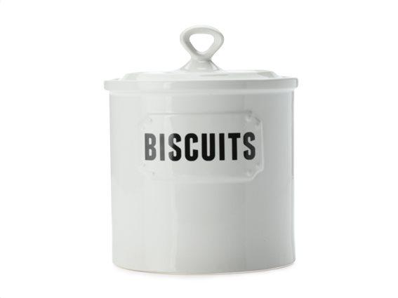 "Casa Domani Δοχείο Κεραμικό ""Biscuits"" Λευκό 2lt. Rivetto"