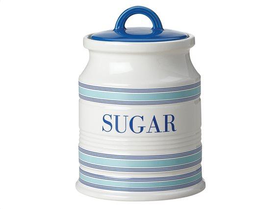 """Maxwell & Williams Δοχείο Κεραμικό """"Sugar"""" Λευκό-Μπλε 500ml. Coastal Stripes"""