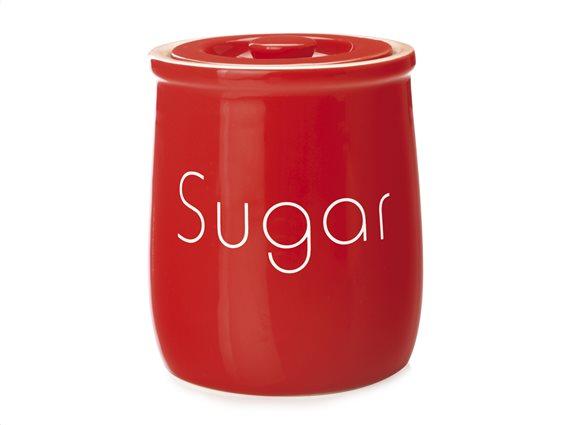 """Maxwell & Williams Δοχείο Κεραμικό """"Sugar"""" Κόκκινο 500ml. Chef Du Monde"""