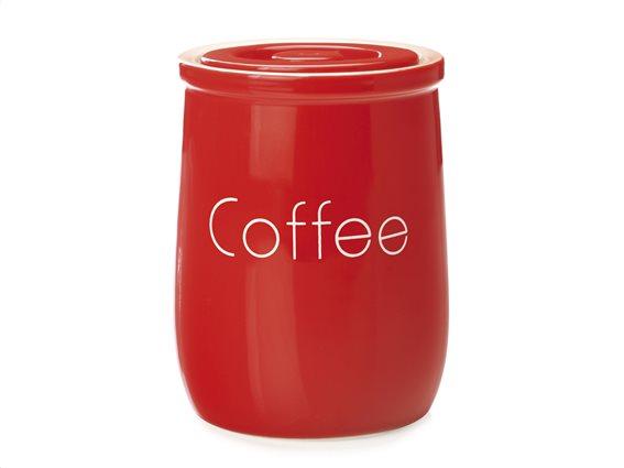 """Maxwell & Williams Δοχείο Κεραμικό """"Coffee"""" Κόκκινο 750ml. Chef Du Monde"""