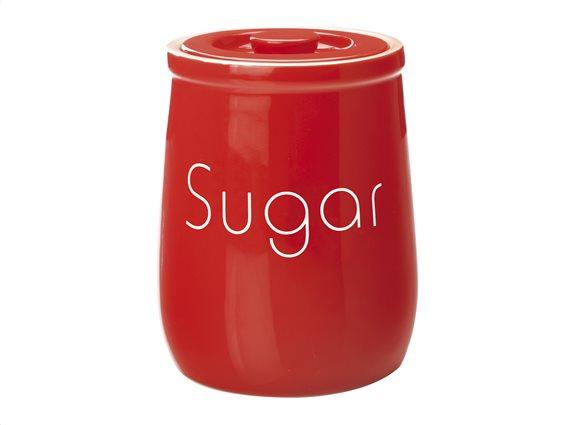 """Maxwell & Williams Δοχείο Κεραμικό """"Sugar"""" Κόκκινο 1lt. Chef Du Monde"""