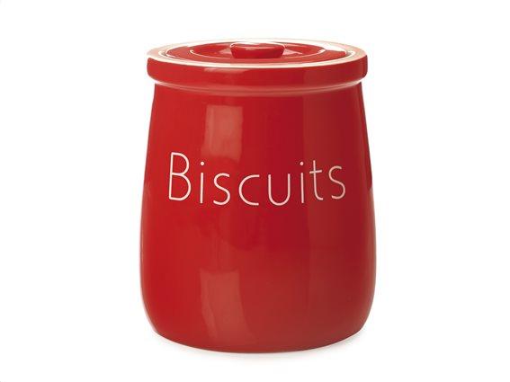 "Maxwell & Williams Δοχείο Κεραμικό ""Biscuits"" Κόκκινο 2,45lt. Chef Du Monde"